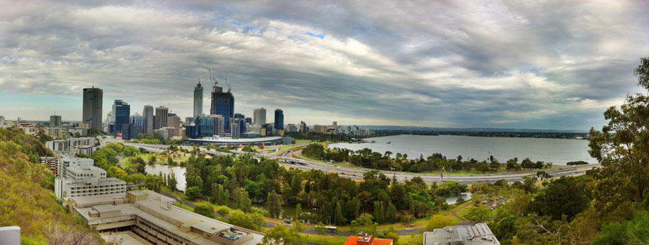 iPhone Magic. Perth from Kings Park HDR